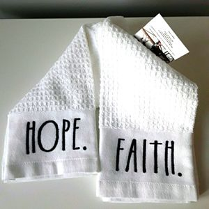 New Rae Dunn kitchen towels set of 2